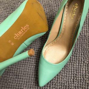 Charles David Blue Heels (Pumps)